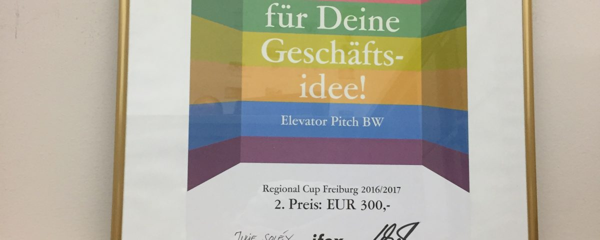 2. Platz Elevator Pitch BW